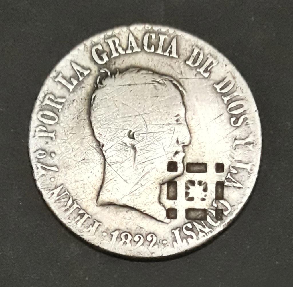 4 Reales 1822. Fernando VII. Madrid. Ayuda con resello 1822_410