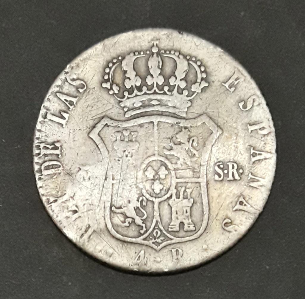 4 Reales 1822. Fernando VII. Madrid. Ayuda con resello 1822_411