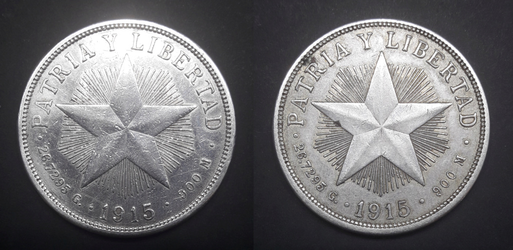Cuba 1 peso 1915 Low Relief 1915_116
