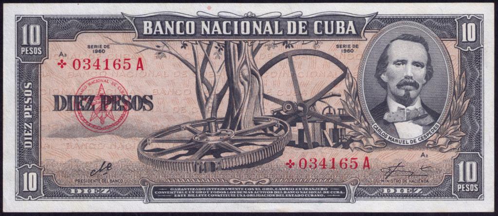 Cuba 10 Pesos 1960 Remplazo 1960_110