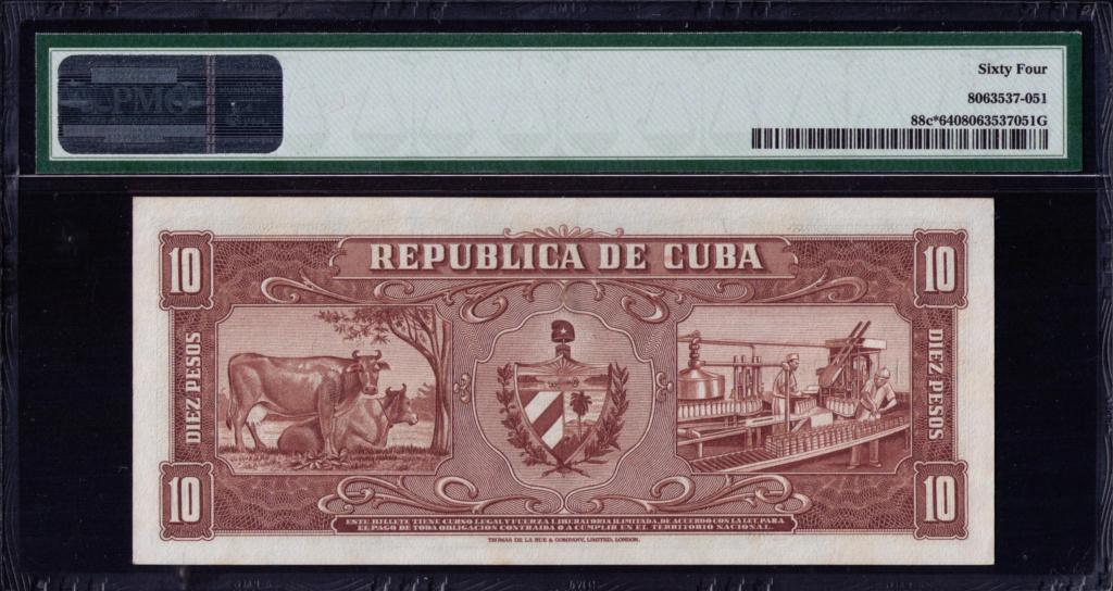 Cuba 10 Pesos 1960 Remplazo 1960_114