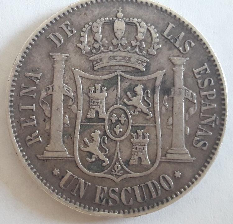 1 Escudo 1867. Isabel II. Madrid 1_escu11