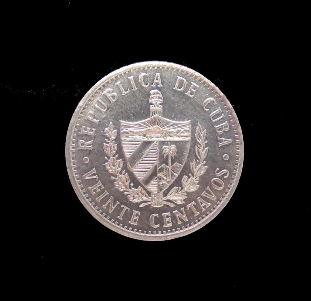 20 Centavos (sin fecha). República de Cuba. 20_cen11