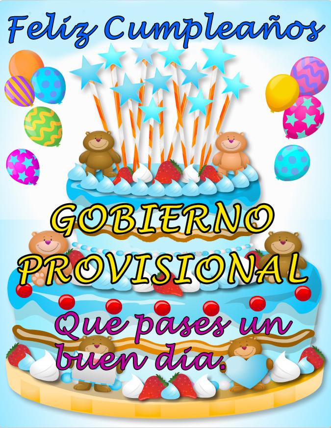 Felicidades Gobierno Provisional 30252-12