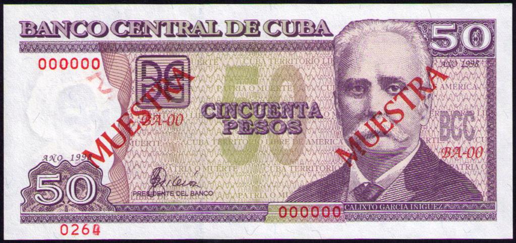 Cuba 50 Pesos Muestra Cuba_116