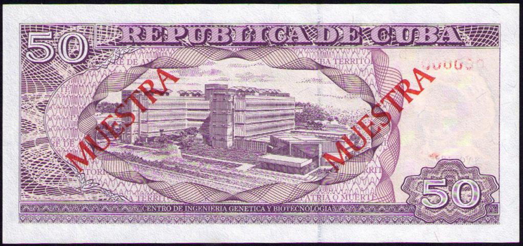 Cuba 50 Pesos Muestra Cuba_117