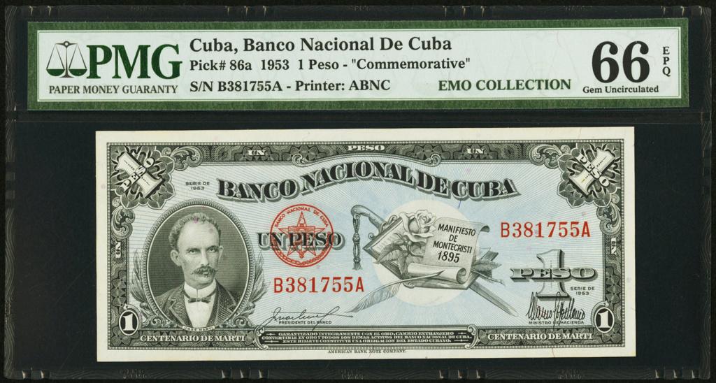 Cuba 1 Peso 1953 Conmemorativo. Dedicatoria JRBCN Cuba_126