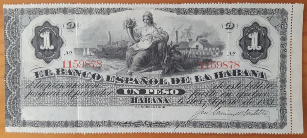Banco Español de La Habana 1 peso 1883 Cuba_132
