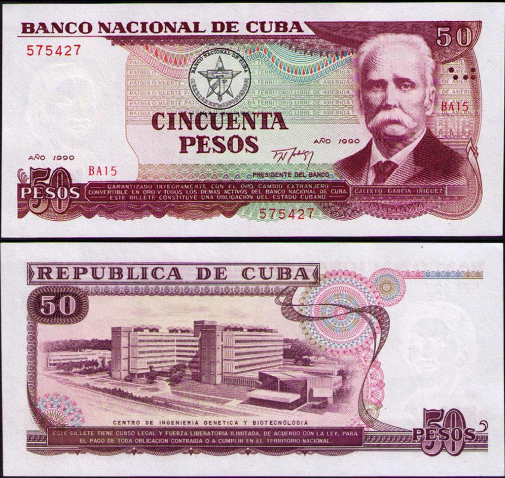 Cuba los billetes impresos en China Cuba_137