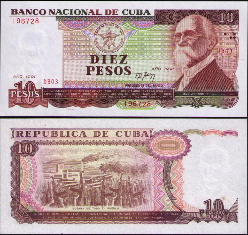 Cuba los billetes impresos en China Cuba_138