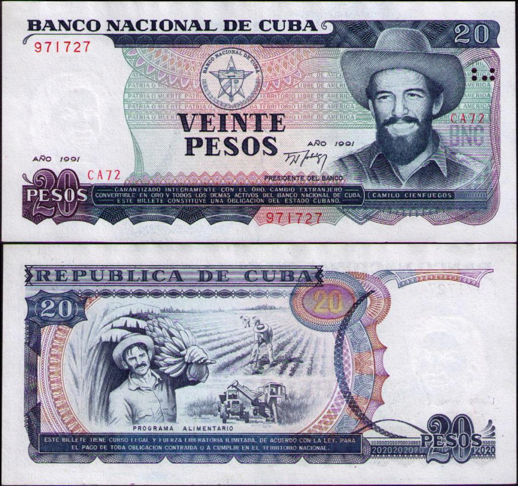Cuba los billetes impresos en China Cuba_139