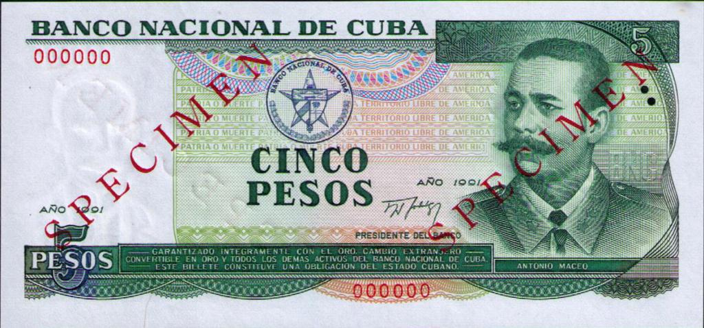 Cuba los billetes impresos en China Cuba_140