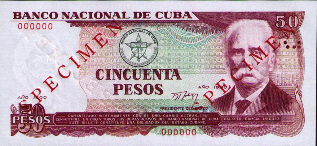 Cuba los billetes impresos en China Cuba_143