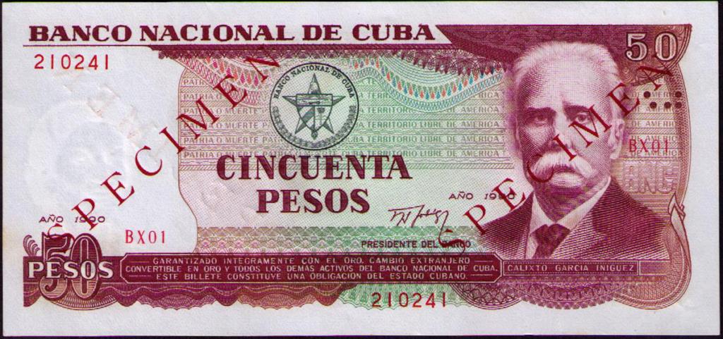Cuba los billetes impresos en China Cuba_144