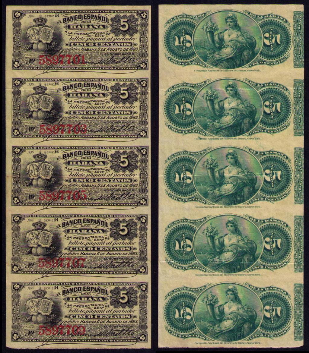 5 Centavos del Banco Español de la Habana. Cuba_145