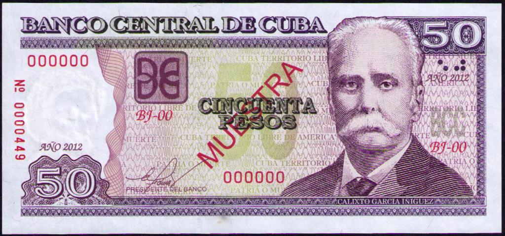 Cuba 50 Pesos Muestra Cuba_210