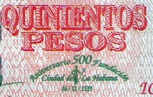 Cuba 500 Pesos 500 Aniversario de la ciudad de La Habana Cuba_218