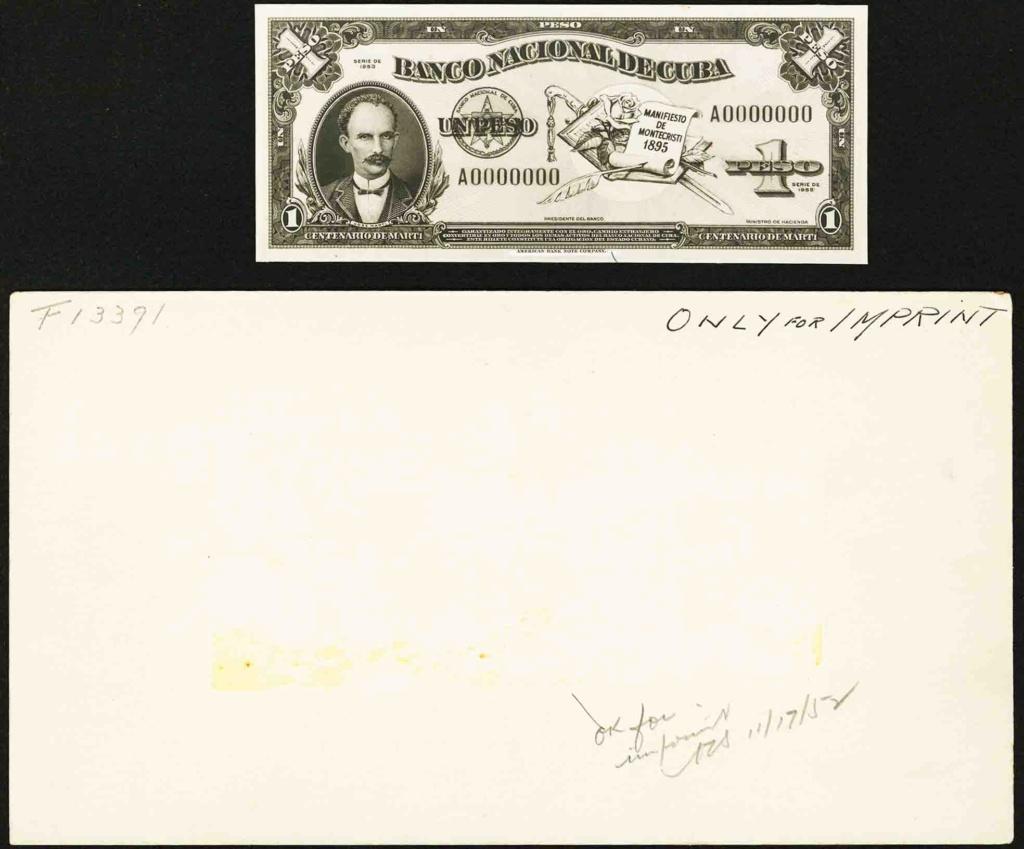 Cuba 1 Peso 1953 Conmemorativo. Dedicatoria JRBCN Lf_110