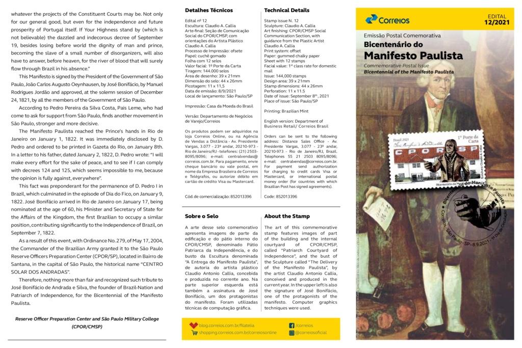 BICENTENARIO DO MANIFESTO PAULISTA Edital14