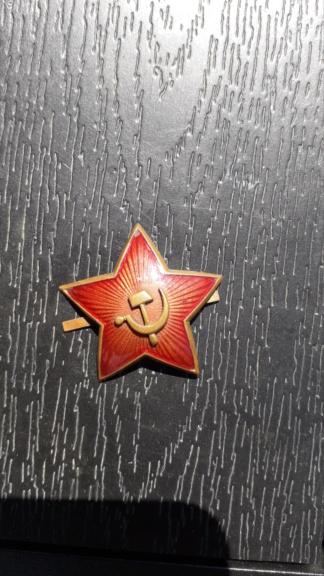 Une étoile de coiffure soviétique 2°GM de fouilles.  20200829