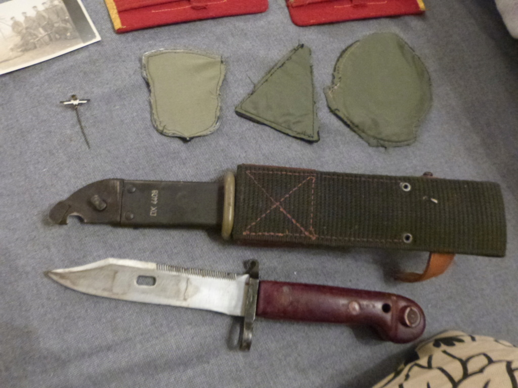 Du varié & international:general roumain, patchs US Navy aero, AK47 baionnette,  P1070340