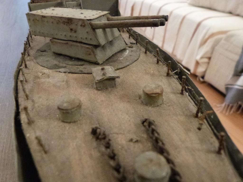 Une maquette marine artisanale d'1m et medaille argent Paquepot MS Pilsudski P1070420