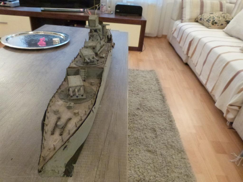 Une maquette marine artisanale d'1m et medaille argent Paquepot MS Pilsudski P1070427