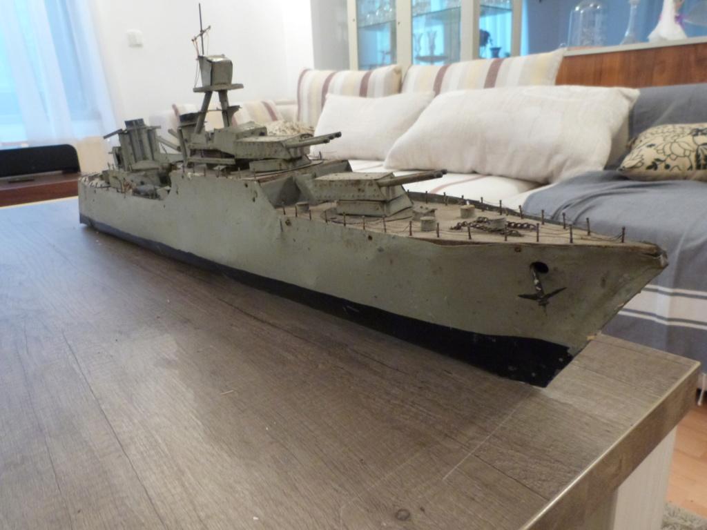 Une maquette marine artisanale d'1m et medaille argent Paquepot MS Pilsudski P1070428