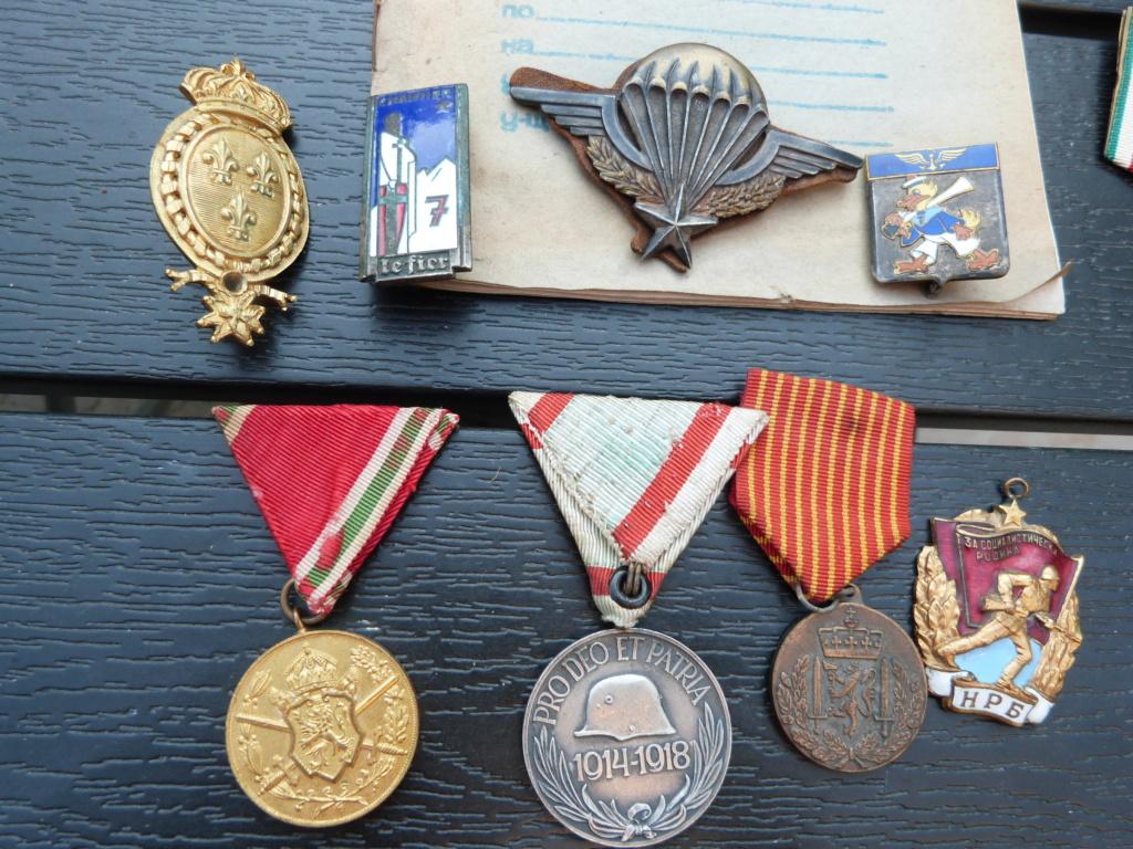 En vacances en Bulgarie : dagues, insignes français, para, médailles, casquette P1070816