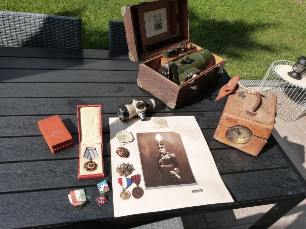 Optique Carl Zeiss, general roumain, et divers medailles P1070914