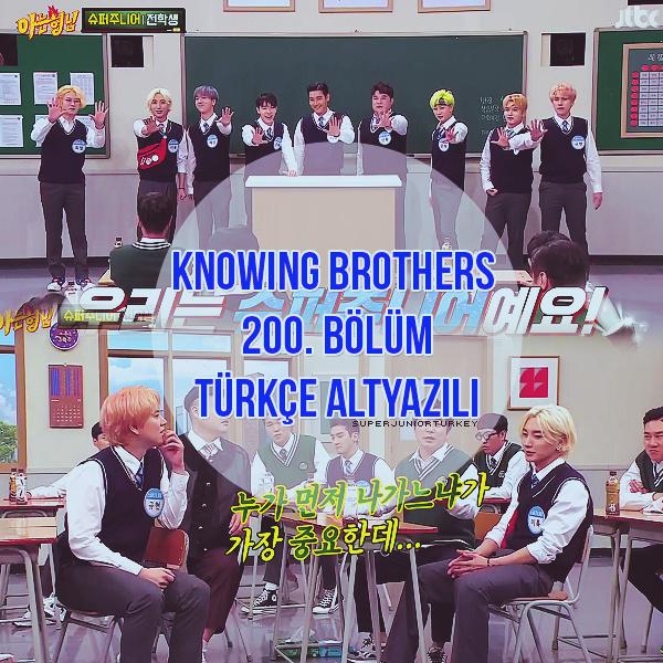 Knowing Brothers 200. Bölüm (Super Junior) [Türkçe Altyazılı] Kb20011