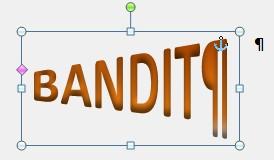 donner a une ecriture une forme d entonnoir  Bandit10