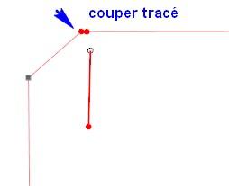 Relier 2 traits Couper10