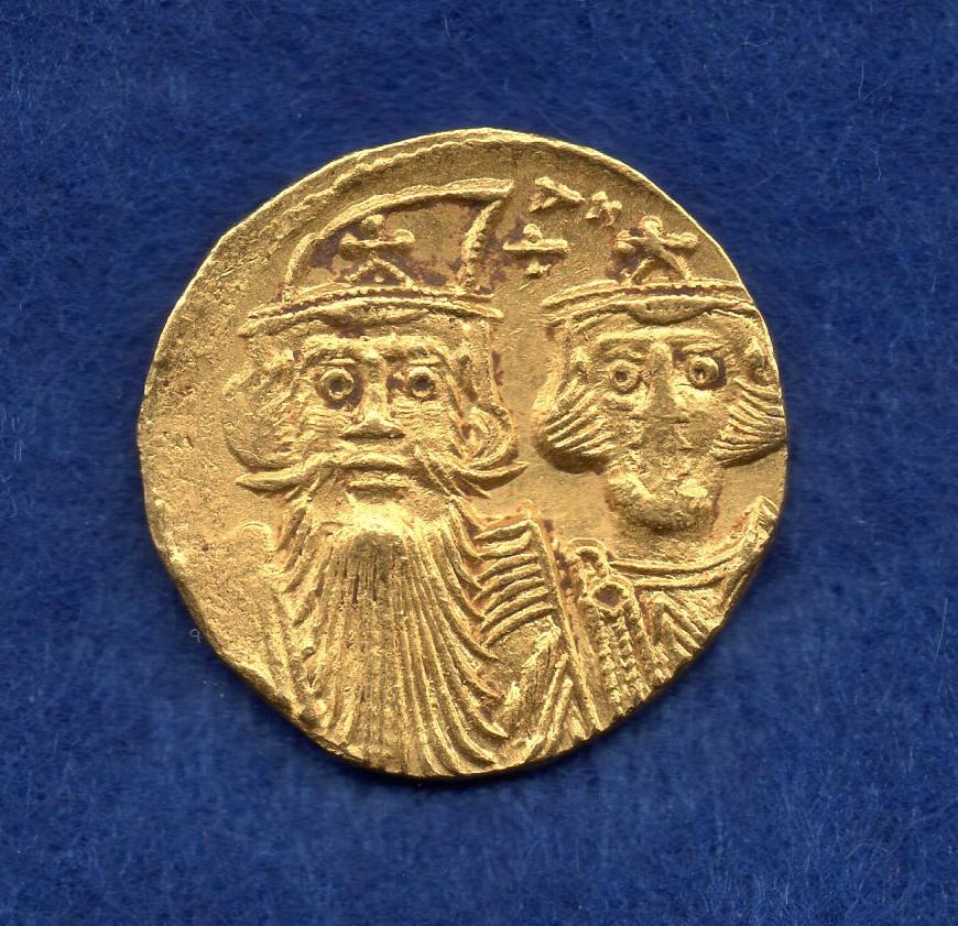 Sólido de Constante II y Constantino IV. Jgo08711