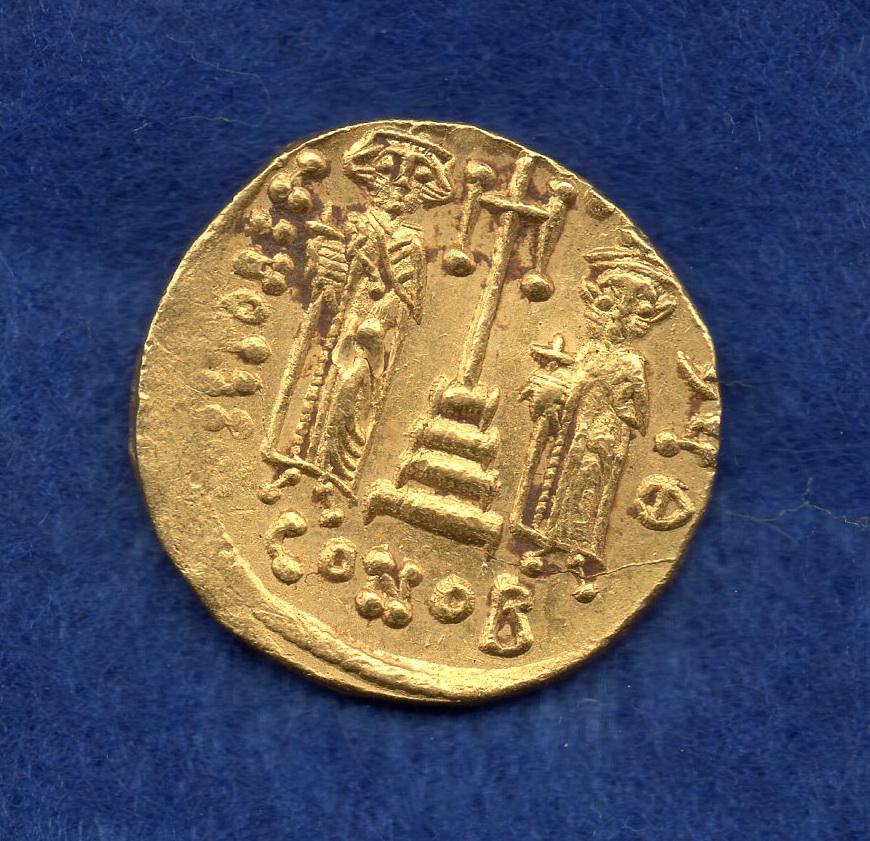 Sólido de Constante II y Constantino IV. Jgo08811