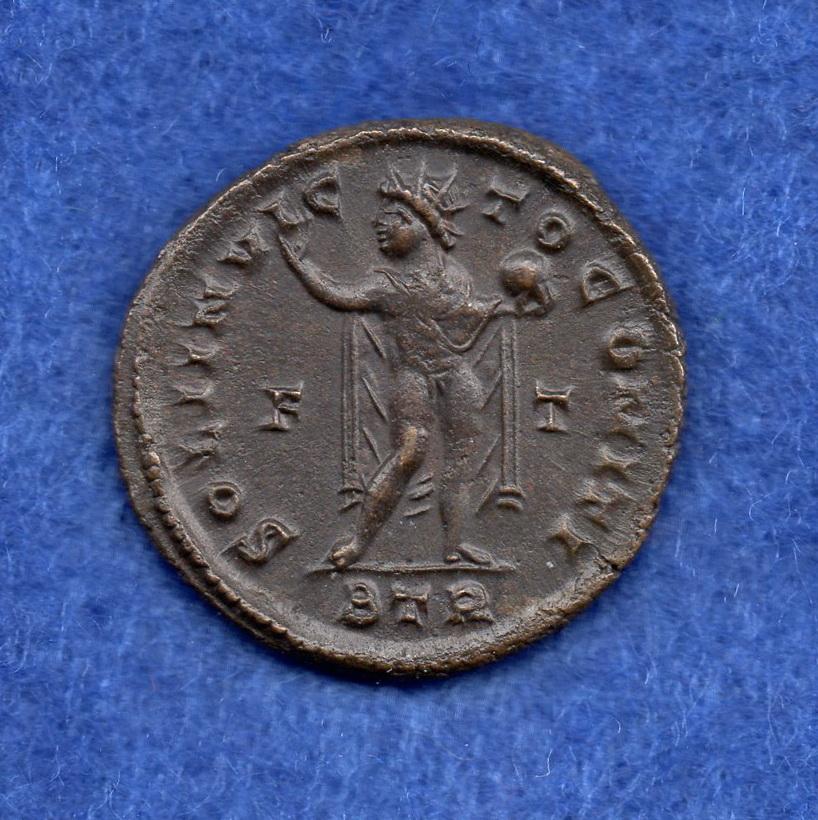 Nummus de Constantino I. SOLI INVICTO COMITI. Trier Rob_1311