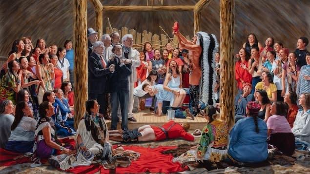 Peinture autochtone - vision du canada 2020 10217310