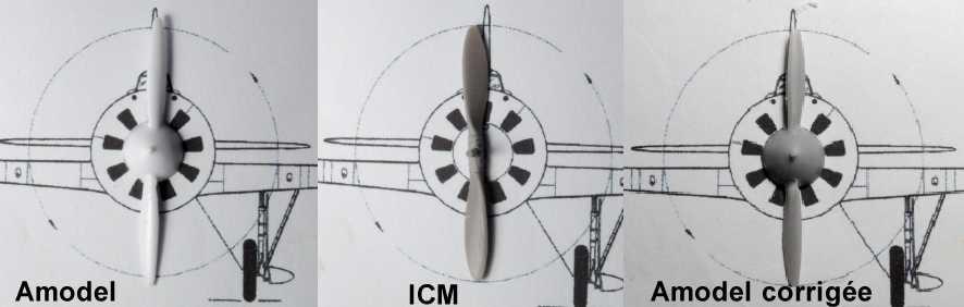 Polikarpov I-16. Du proto au I-185. P&J, Amodel, ICM , ArtModel , Eastern Express MSD 1/72.  - Page 2 Helice10