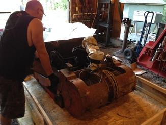 Remise en état des équipements forestiers Werner pour 406. Werner14
