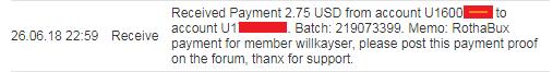 Rothabux Nueva PTC gane mas de 0.10$ diarios + mi prueba de pago Primer12