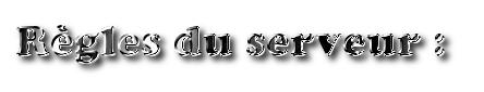 Règlement du Mode Libre - Serveur Fun Rzogle19
