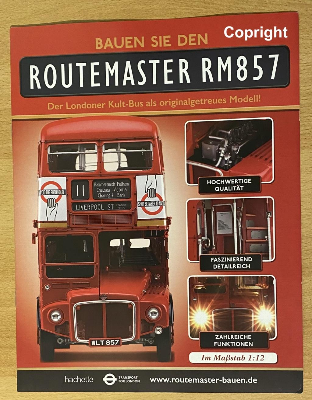 Etappenbausatz Routemaster RM857 von hachette in 1/12 0010