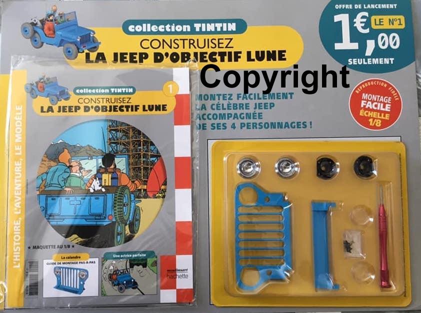 """Tim & Struppi - der Jeep aus """"Reiseziel Mond"""" 1:8 von Hachette - Test (?) France Tintin10"""