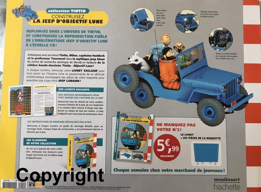 """Tim & Struppi - der Jeep aus """"Reiseziel Mond"""" 1:8 von Hachette - Test (?) France Tintin11"""