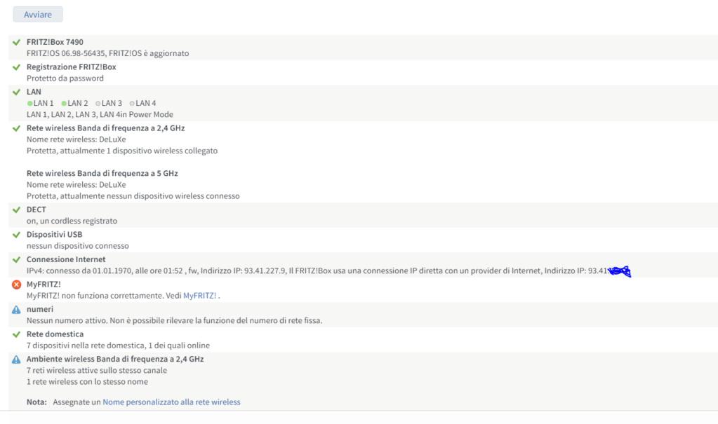 FritzBox 7490 e Fastweb vDSL Dsl410