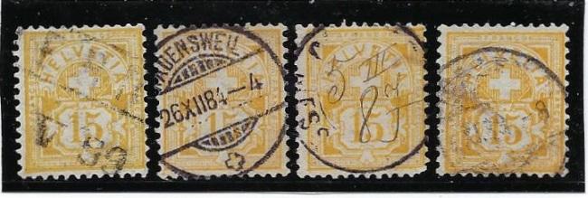 Kreuz und Wertziffern Kreusw14