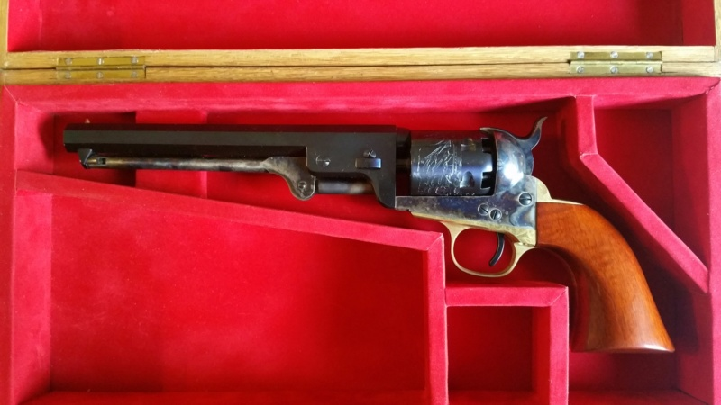 VENDU !! Splendide Colt Navy 1851 Blue Charcoal - Uberti - Neuf 20181110