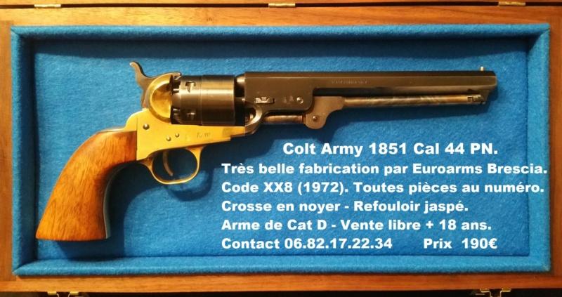 VENDU ! Très beau Colt Army 1851 Cal 44 PN - Euroarms - 1972 20181212
