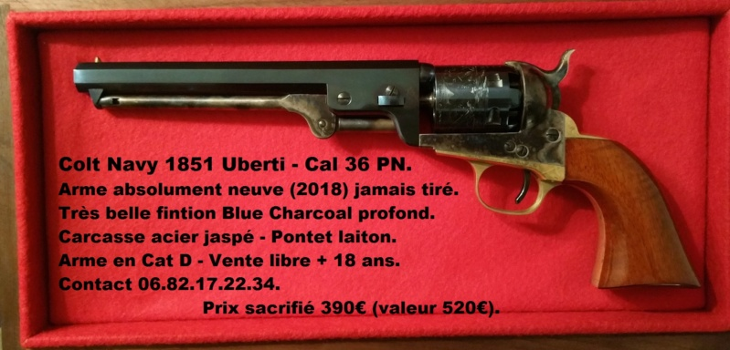 VENDU !! Splendide Colt Navy 1851 Blue Charcoal - Uberti - Neuf Colt_n10
