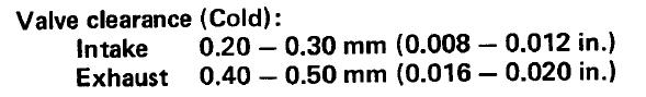 valve adjustment? Screen13